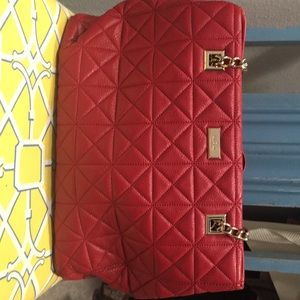 Red Kate Spade quilted tote